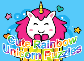 Cute Rainbow Unicorn Puzzles